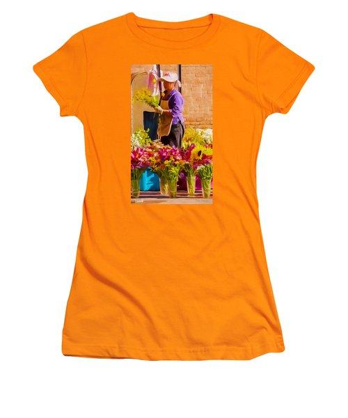 Flower Lady Women's T-Shirt (Athletic Fit)