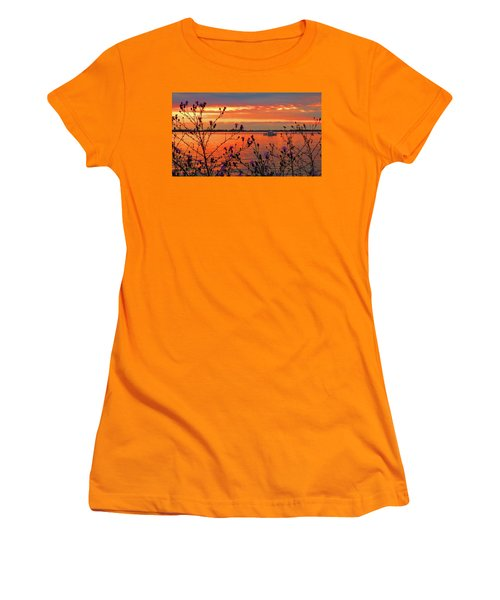 Flowers Along The Shore At Tibbetts Point  Women's T-Shirt (Athletic Fit)