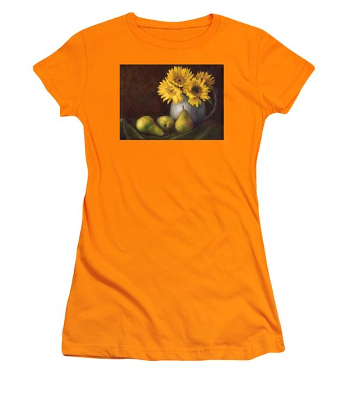 Women's T-Shirt (Junior Cut) featuring the painting Flowers And Fruit by Janet King