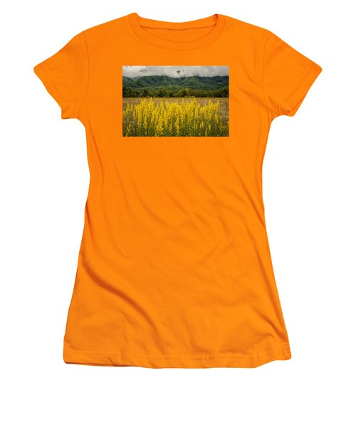 Flowers In Cades Cove Women's T-Shirt (Junior Cut) by Tyson Smith