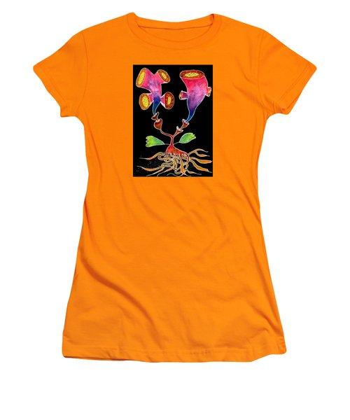 Flowers Women's T-Shirt (Junior Cut) by R Kyllo