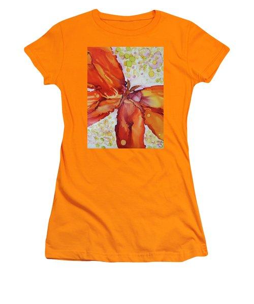 Women's T-Shirt (Junior Cut) featuring the painting Flutter by Joanne Smoley