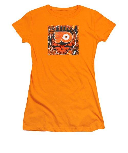 Flyer Love Women's T-Shirt (Junior Cut) by Kevin J Cooper Artwork