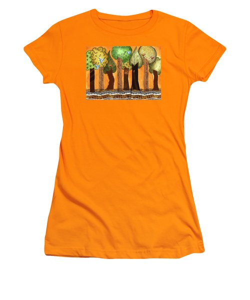 Flying In The Forest Women's T-Shirt (Athletic Fit)