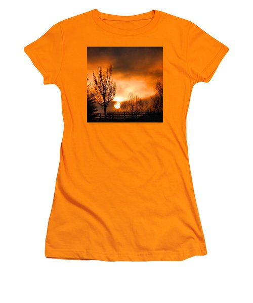 Foggy Sunrise Women's T-Shirt (Junior Cut) by Sumoflam Photography