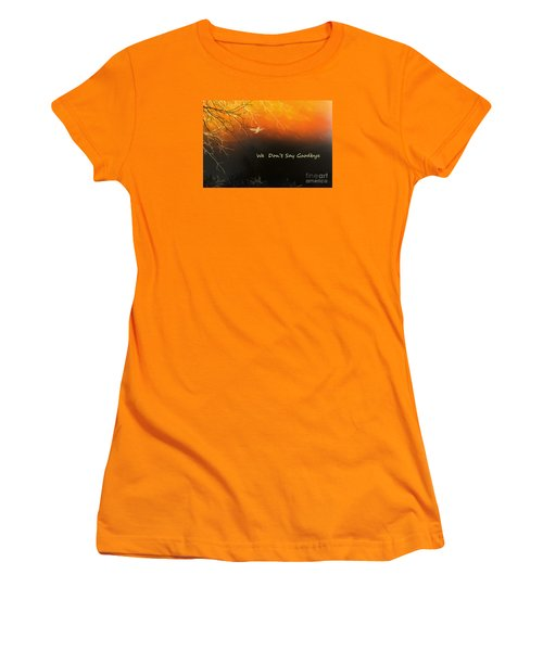 Women's T-Shirt (Junior Cut) featuring the digital art Fond Thoughts by Trilby Cole