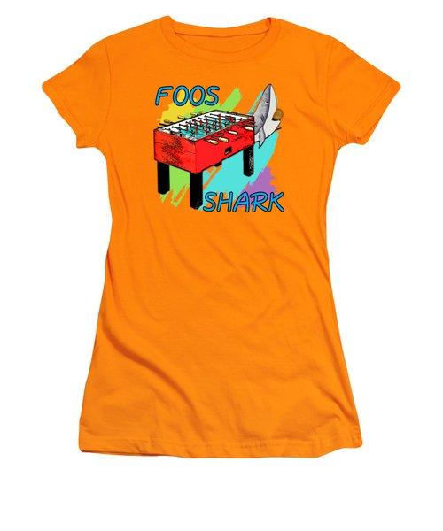 Foos Shark Women's T-Shirt (Junior Cut) by David G Paul