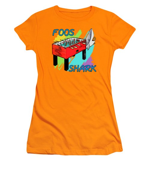 Foos Shark Women's T-Shirt (Athletic Fit)