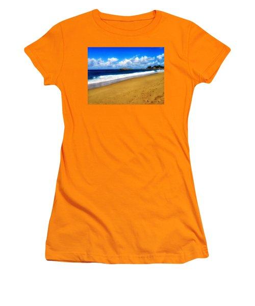 Foot Prints  Women's T-Shirt (Athletic Fit)