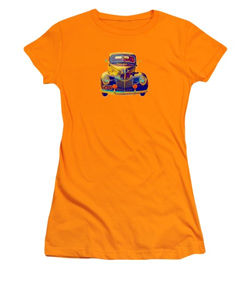 Ford Deluxe Coupe Transfer Women's T-Shirt (Junior Cut) by Mim White