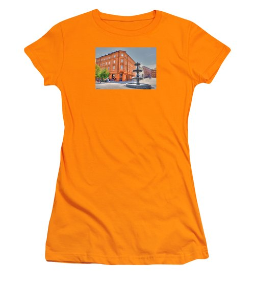 Women's T-Shirt (Junior Cut) featuring the photograph Fountain by Uri Baruch