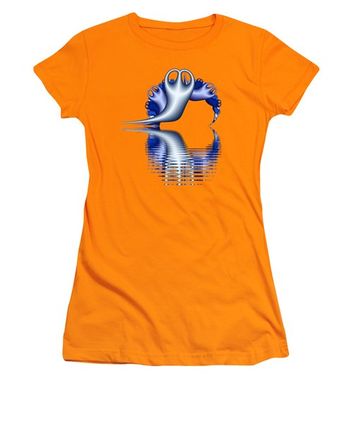Fractal Peeble Ghosts Women's T-Shirt (Athletic Fit)