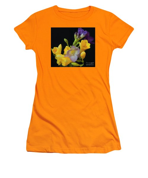Freesias Softened 9 Women's T-Shirt (Athletic Fit)