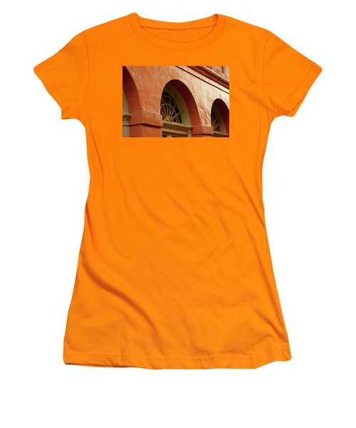 Women's T-Shirt (Junior Cut) featuring the photograph French Quarter Arches by KG Thienemann