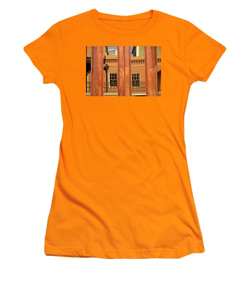 Women's T-Shirt (Junior Cut) featuring the photograph French Quarter Reflection by KG Thienemann