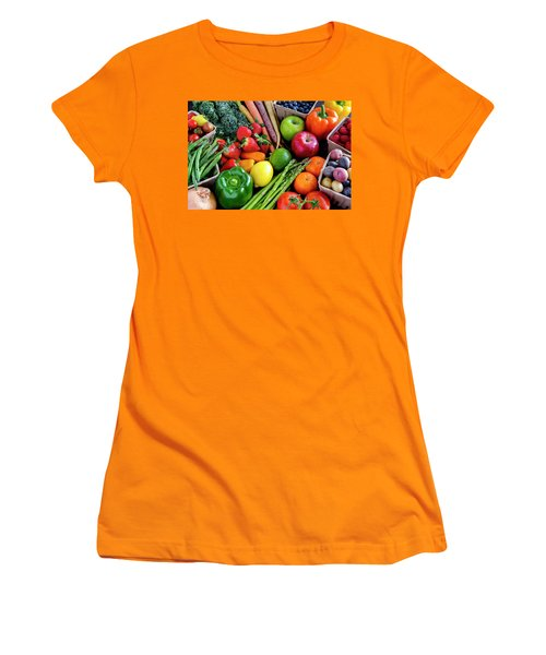 Fresh From The Farm Women's T-Shirt (Junior Cut) by Teri Virbickis