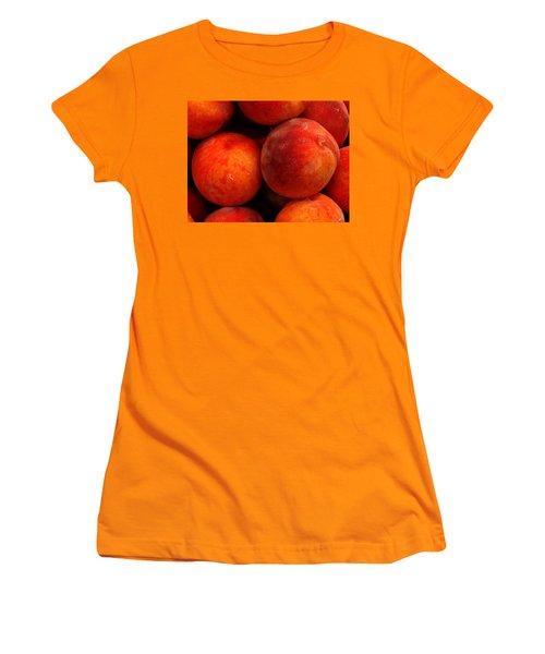Fresh Fuzzy Peaches Women's T-Shirt (Junior Cut) by Ian  MacDonald