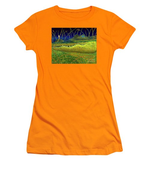 Swamp Gathering Women's T-Shirt (Junior Cut) by David Joyner
