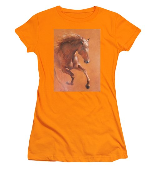 Gallop In The Desert Women's T-Shirt (Athletic Fit)