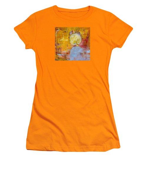 Women's T-Shirt (Junior Cut) featuring the painting Genesis by Evelina Popilian