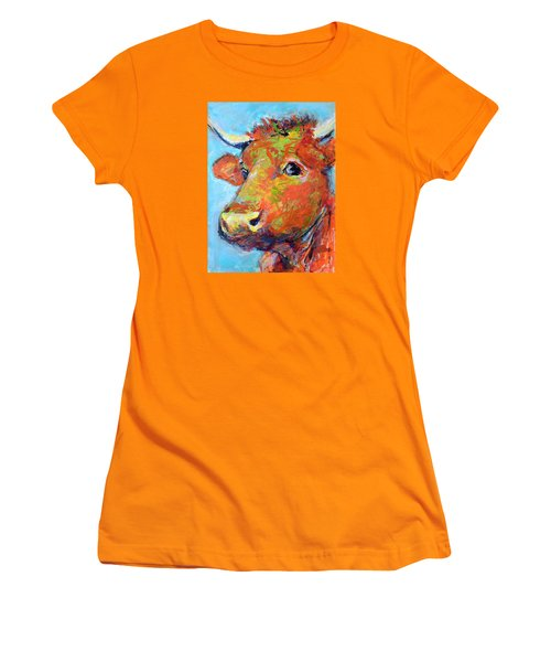 Women's T-Shirt (Junior Cut) featuring the painting Ginger Horn by Mary Schiros