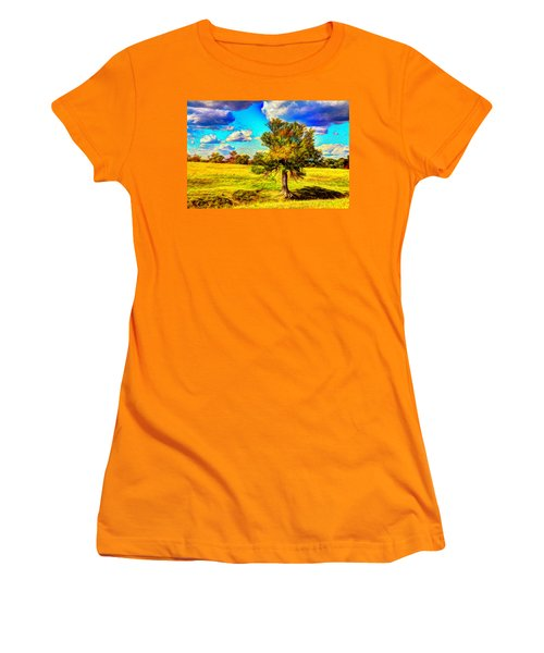 Glowing Afternoon Women's T-Shirt (Athletic Fit)