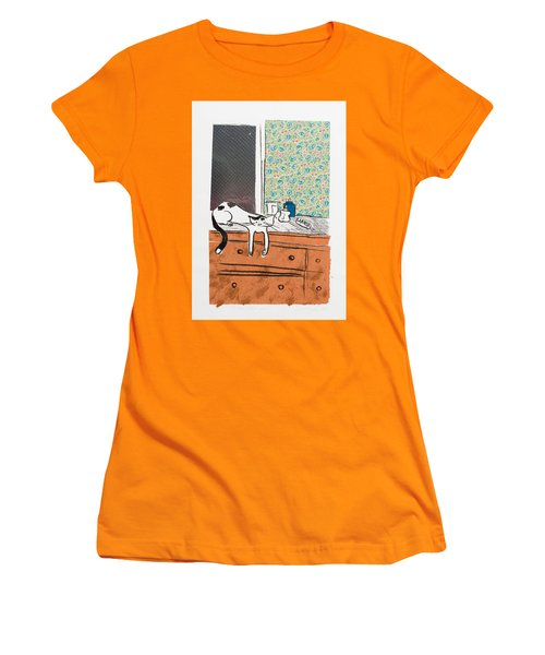 Go Ahead I Dare Ya. Women's T-Shirt (Junior Cut) by Leela Payne