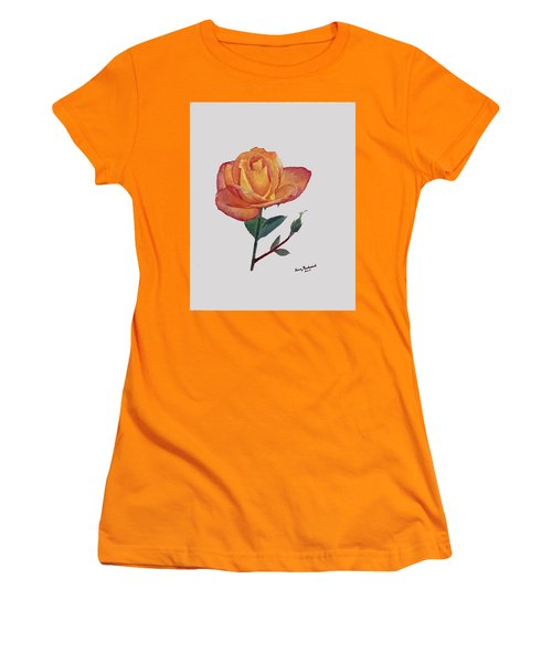 Gold Medal Rose Women's T-Shirt (Athletic Fit)