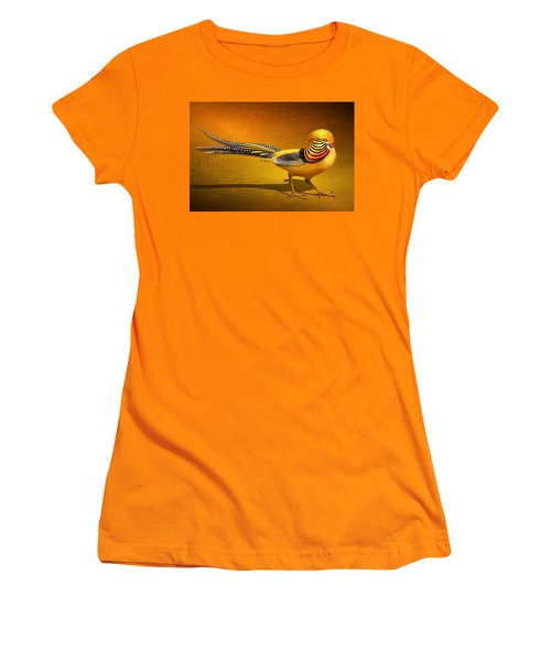 Golden Chinese Pheasant Women's T-Shirt (Athletic Fit)