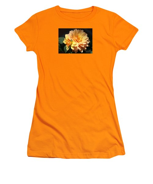 Golden Dahlia With Bud Women's T-Shirt (Athletic Fit)