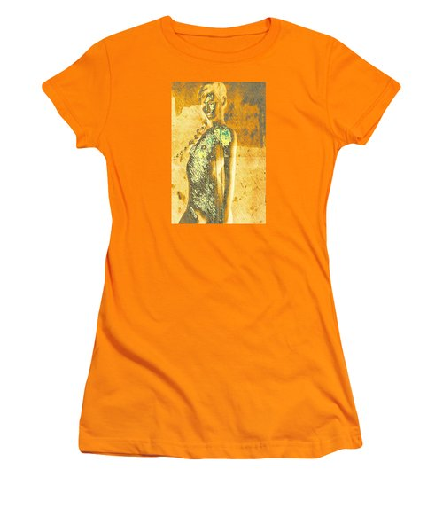 Golden Graffiti Women's T-Shirt (Athletic Fit)