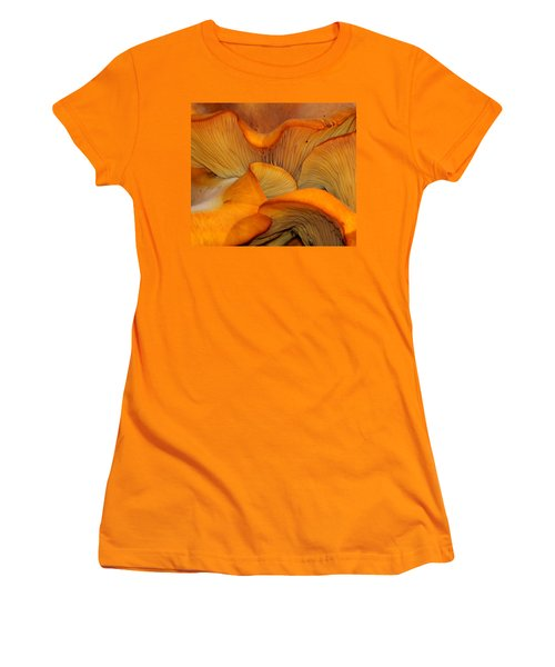 Golden Mushroom Abstract Women's T-Shirt (Athletic Fit)