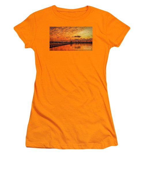 Golden Orange Sunrise Women's T-Shirt (Athletic Fit)