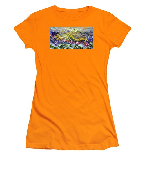 Golden Peace Women's T-Shirt (Athletic Fit)