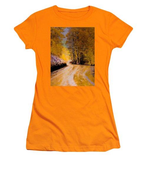 Golden Road Women's T-Shirt (Junior Cut) by Kristal Kraft
