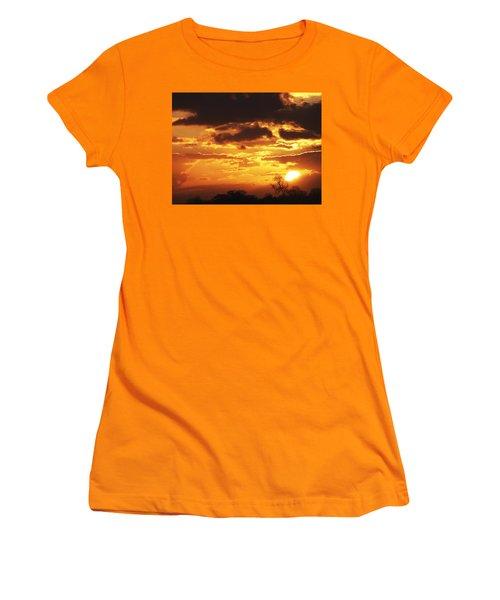Golden Sunset Women's T-Shirt (Athletic Fit)