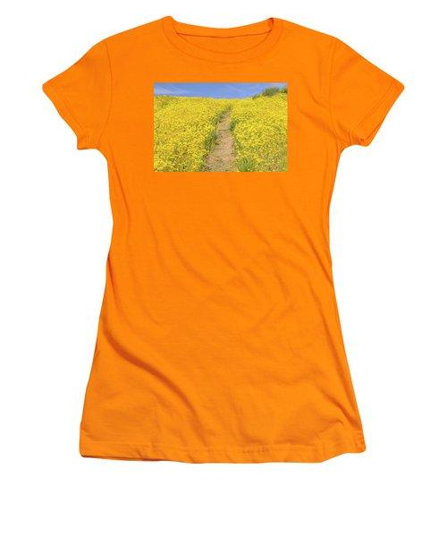 Women's T-Shirt (Junior Cut) featuring the photograph Golden Trail by Marc Crumpler