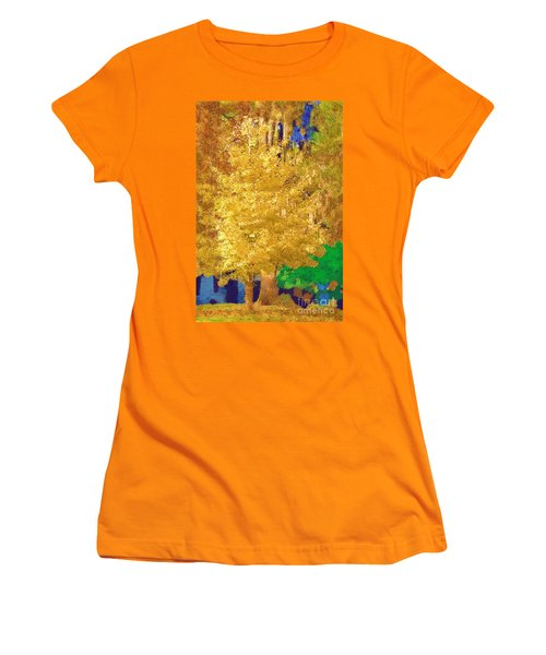 Women's T-Shirt (Junior Cut) featuring the photograph Golden Tree by Donna Bentley