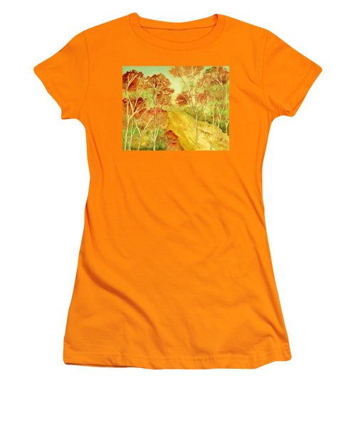 Golden Woods Women's T-Shirt (Athletic Fit)