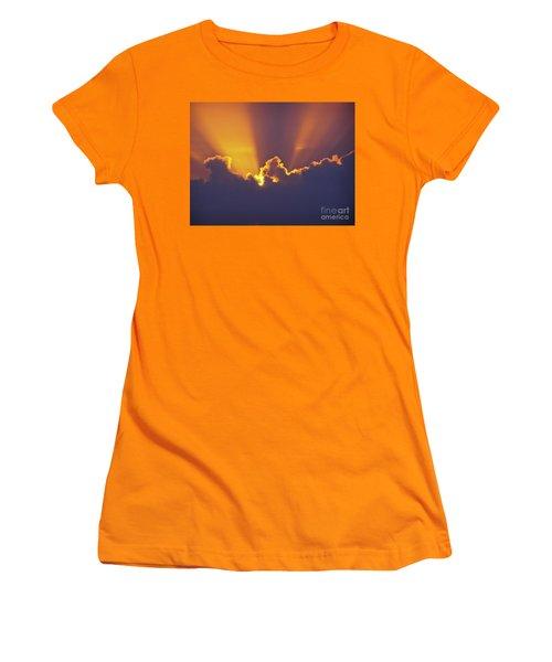 Women's T-Shirt (Junior Cut) featuring the photograph Good Night Sunshine by Terri Waters