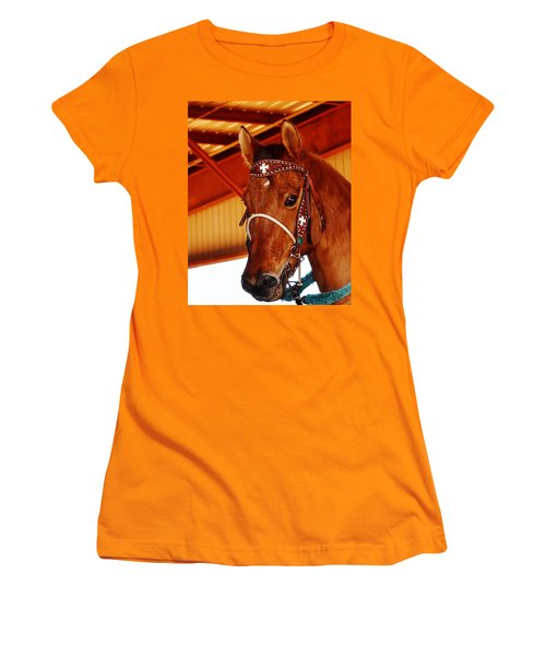 Gorgeous Horse And Bridle Women's T-Shirt (Athletic Fit)