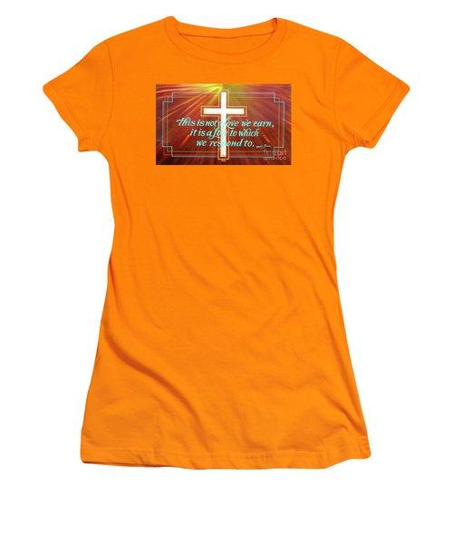 Grace  Women's T-Shirt (Junior Cut) by Alan Johnson