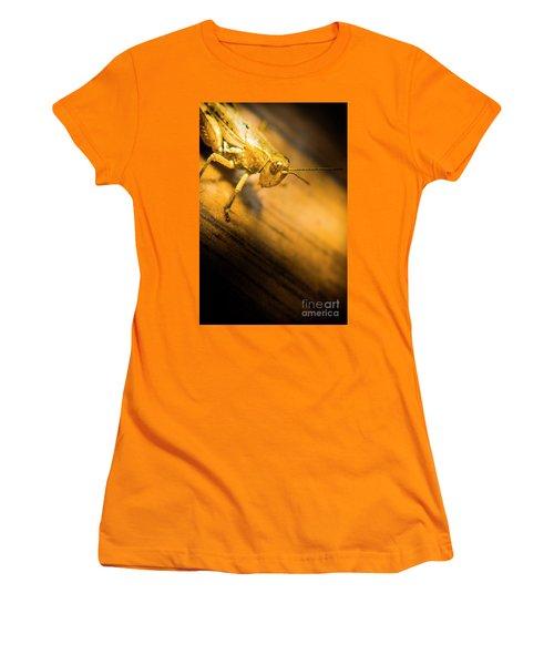 Grasshopper Under Shining Yellow Light Women's T-Shirt (Athletic Fit)