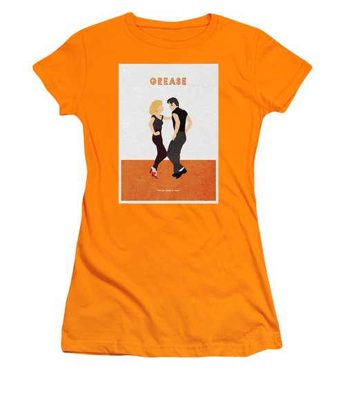 Women's T-Shirt (Athletic Fit) featuring the painting Grease by Inspirowl Design