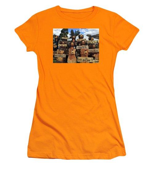 Grin And Bear It Women's T-Shirt (Junior Cut) by Beth Saffer