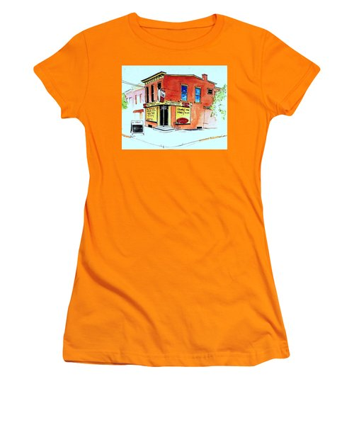 Women's T-Shirt (Junior Cut) featuring the painting Grodzicki's Market by William Renzulli