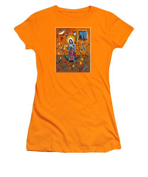 Guadalupe Visits Miro Women's T-Shirt (Junior Cut) by James Roderick