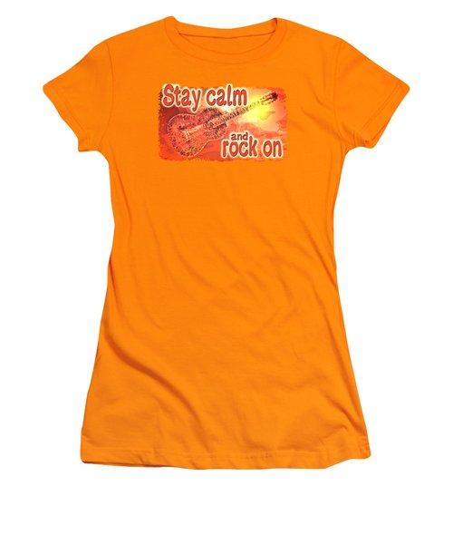 Guitar Fantasy Three Women's T-Shirt (Junior Cut) by Richard Farrington
