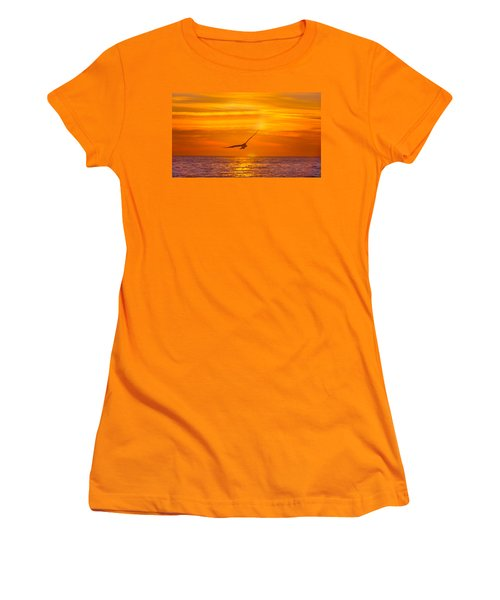 Gull At Sunrise Women's T-Shirt (Athletic Fit)
