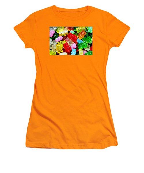 Women's T-Shirt (Junior Cut) featuring the photograph Gummy Bears by Vivian Krug Cotton